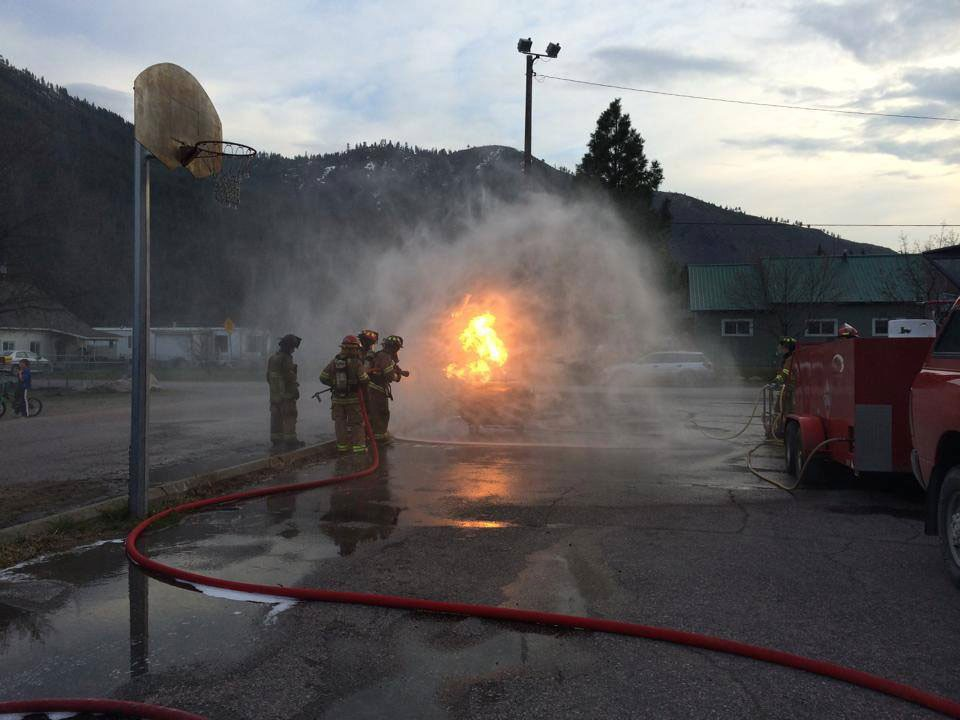 Dousing a test fire